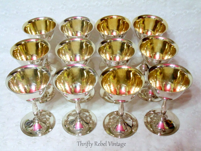 silver goblets