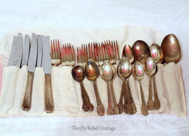 vintage lot of silverware
