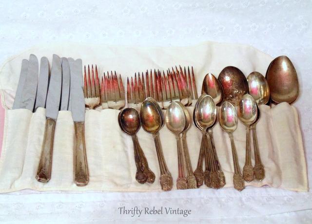 vintage lot of silverware