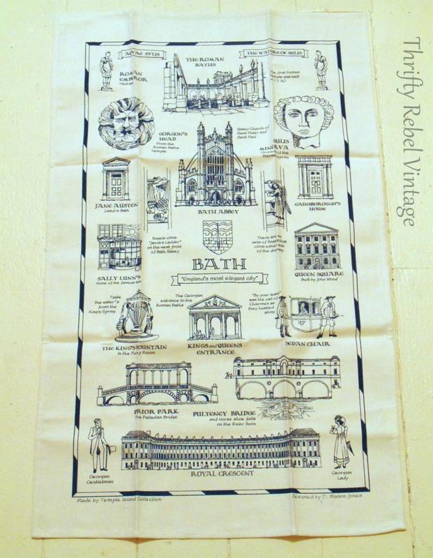 Bath England Tea Towel