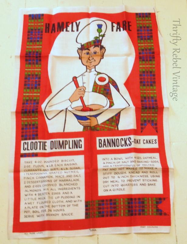 Hamely Fare recipe tea towel