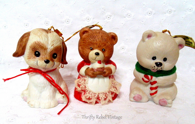 Vintage Lil Chimers Bell Christmas Tree Ornaments