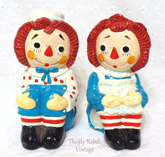 Raggedy Ann and Andy Bookends
