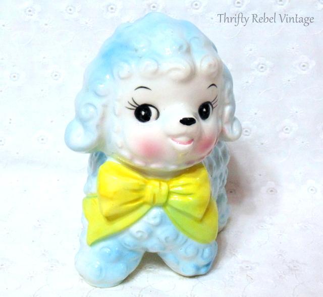 Vintage Relpo Blue Lamb Planter