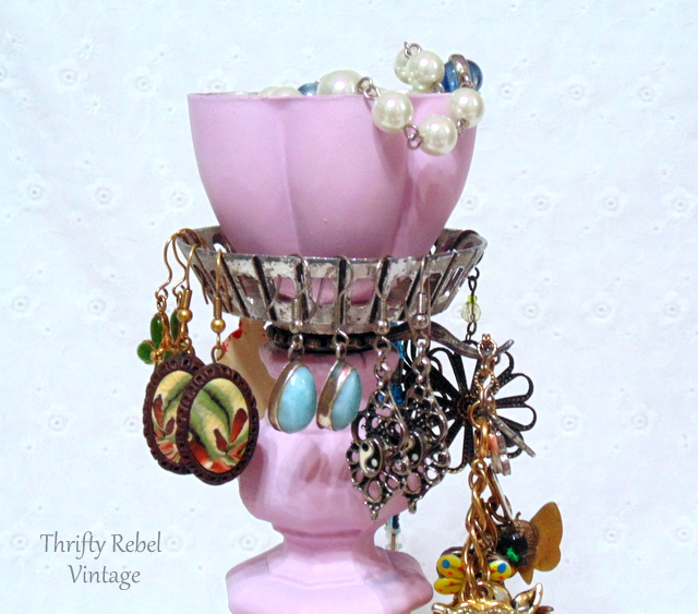 from candle holder into jewelry holder