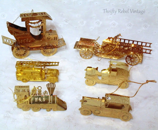vintage metal car tree ornaments