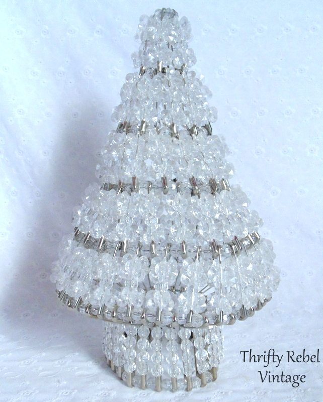 handmade safety pin Christmas tree