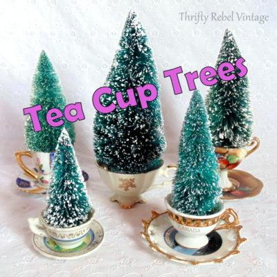 Easy Mini Tea Cup Trees