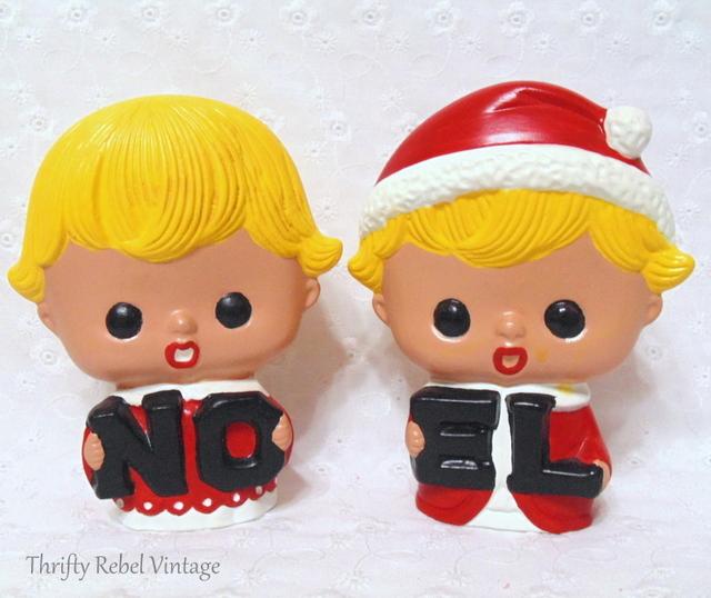 vintage ceramic NOEL children figurines