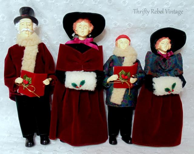 vintage carolling doll family