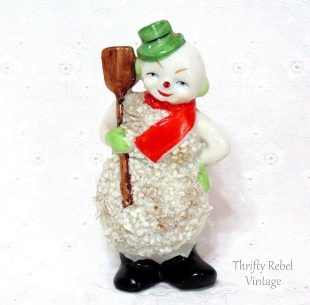 vintage ceramic Snowman figuring