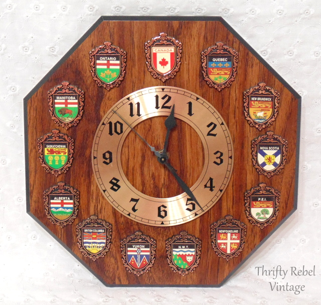 Canada Clock with provincial coats of arms