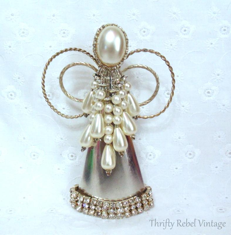 Repurposed Christmas Angel Ornament