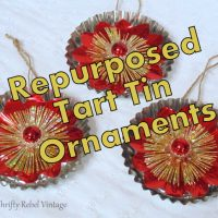 Repurposed Tart Tin Ornaments