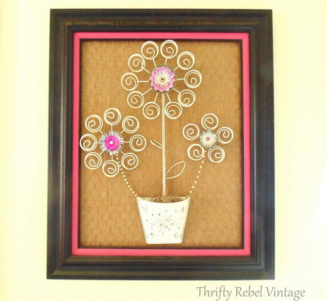 repurposed tea light tree into flower art