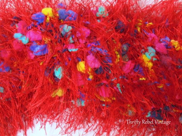 Easy Repurposed Scarf Santa Wreath