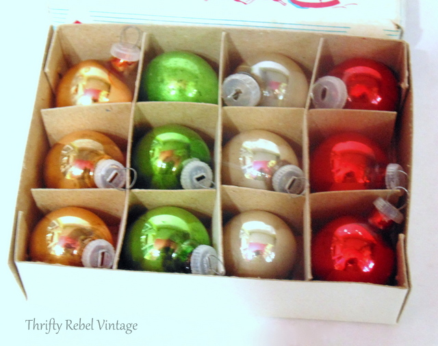 vintage miniature glass Christmas ornaments