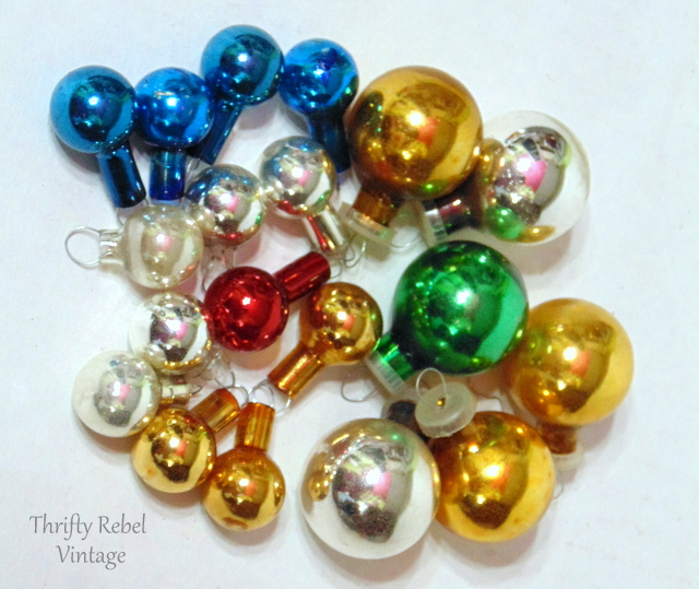 vintage miniature glass Christmas ornaments