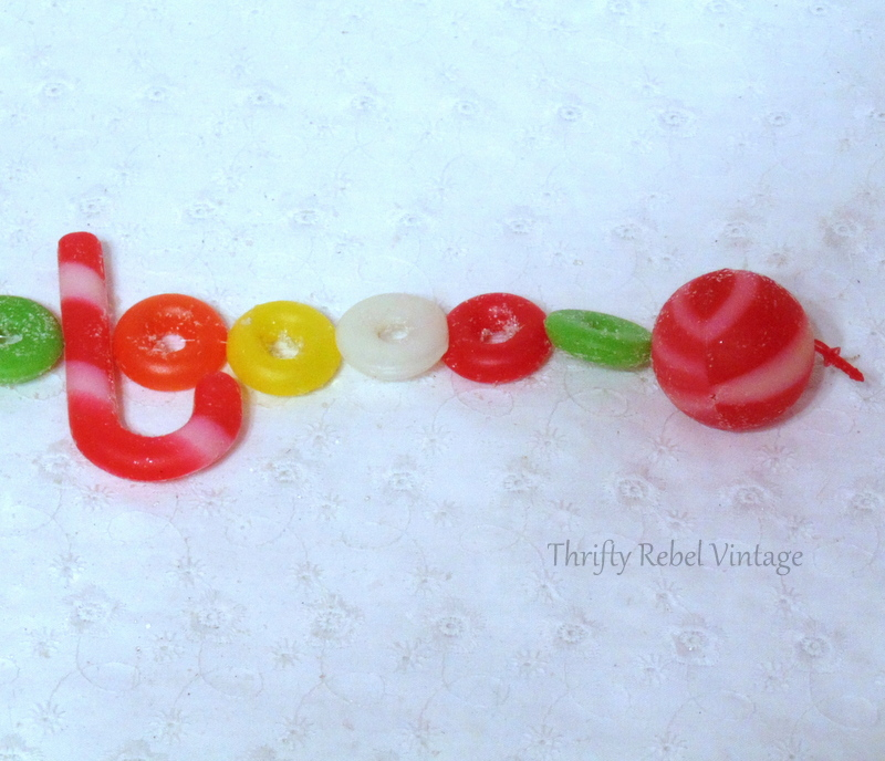 vintage plastic candy garland