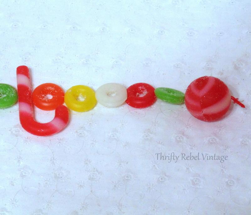 vintage plastic candy garland
