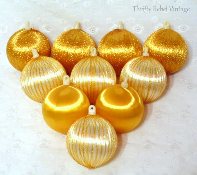 silk yellow ball ornaments