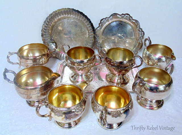 silver cream and sugar sets