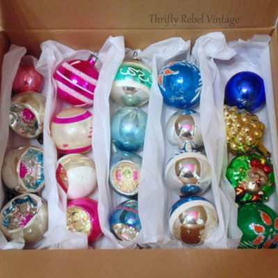 Easy Vintage Glass Ornament Storage