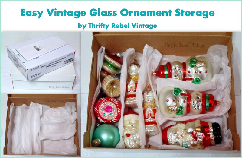 easy DIY vintage glass ornament storage