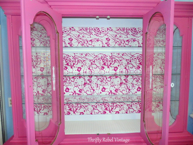 Hot China Cabinet Makeover - Thrifty Rebel Vintage