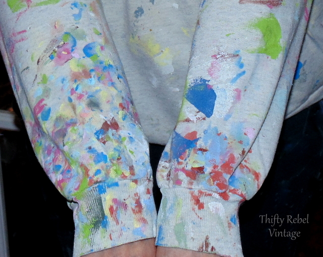 paint covered sleeves