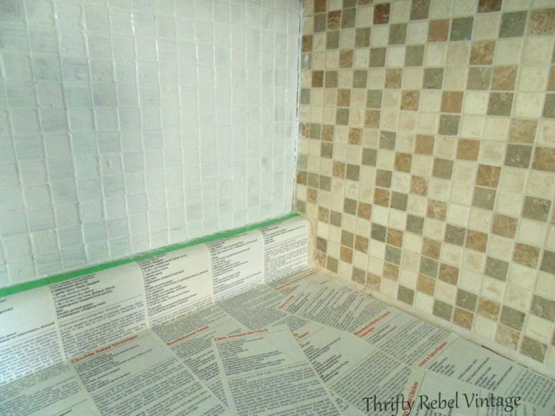 painting the kitchen backsplash