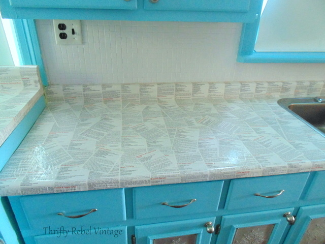 kitchen counter and backsplash makeover