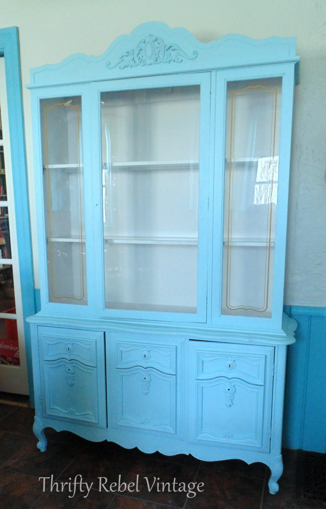 kitchen china cabinet makeover