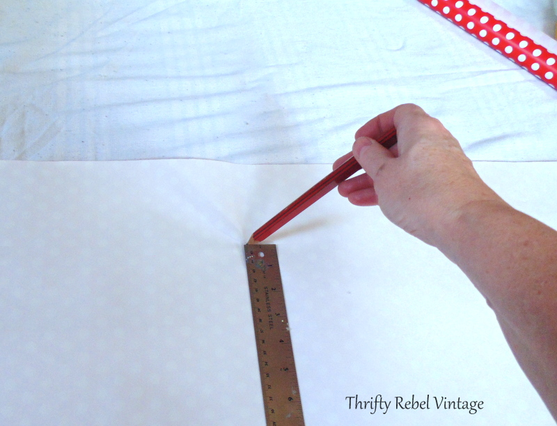 measuring wrapping paper for kitchen china cabinet makeover