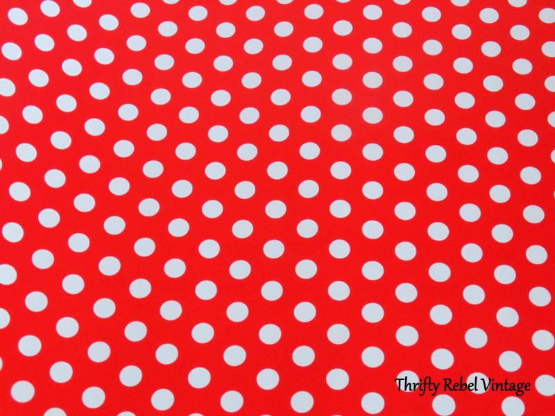 polka dot wrapping paper for kitchen china cabinet makeover