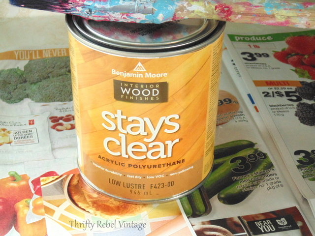 stays clear polyurethane for kitchen counter makeover