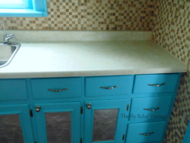 Kitchen Counter Makeover Decoupage, How To Decoupage Kitchen Cabinets