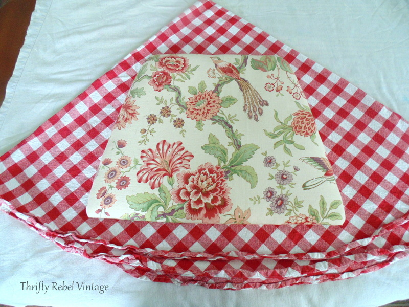 using fabric for kitchen chairs makeover