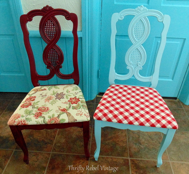 kitchen chair makeover before and after