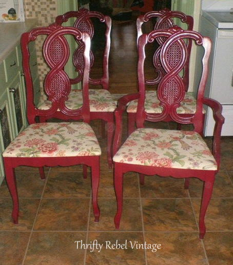 kitchen chairs makeover before