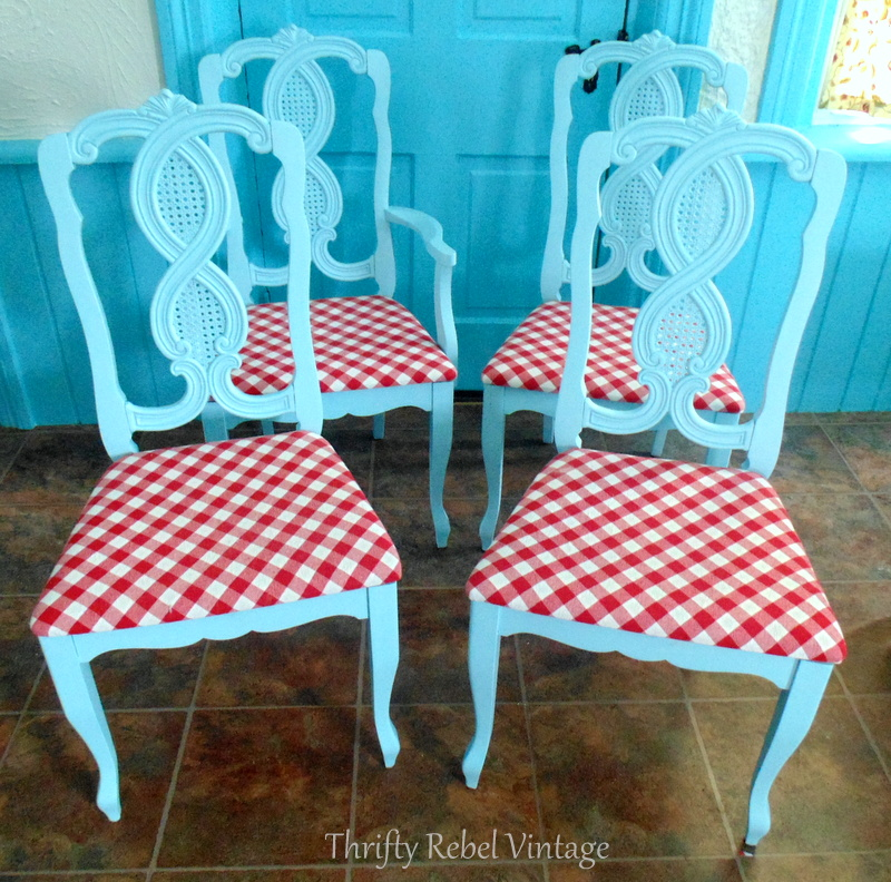 kitchen chairs makeover after