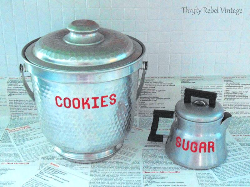 vintage repurposed coffee pots kitchen storage