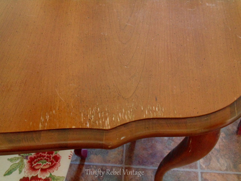 damage to surface re kitchen table makeover