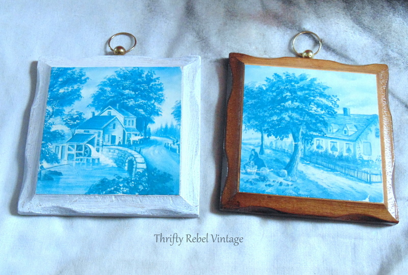 painting wooden picture frames makeover