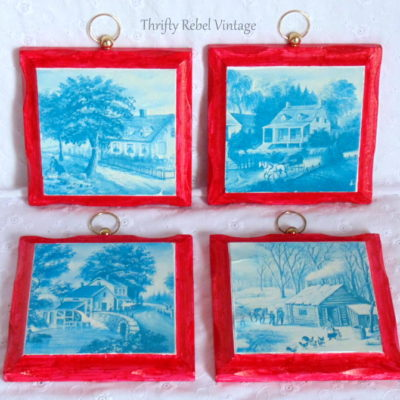A Little Bit Country Picture Frames Makeover