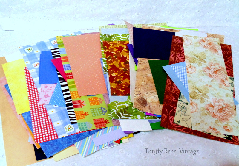 lot of scrapbooking papers
