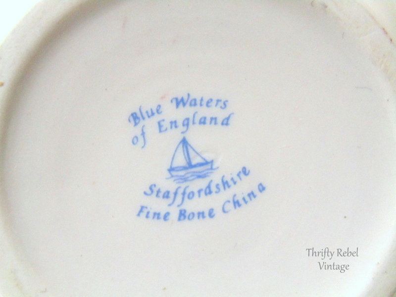 New Waters Staffordshire Bone China Miniature Tea set
