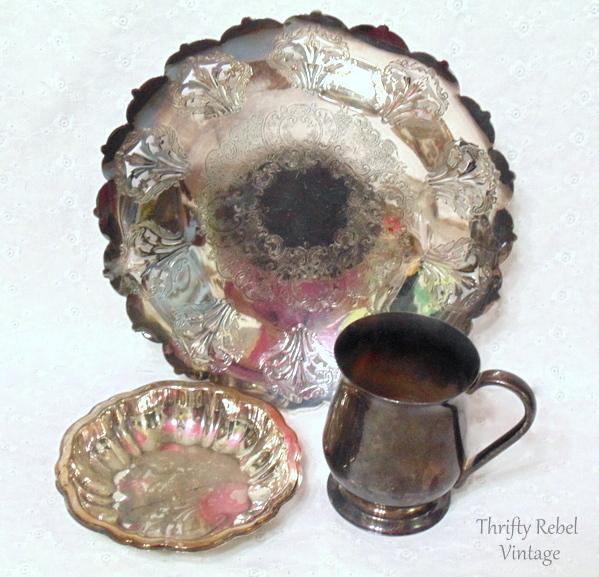 silver trays and mug