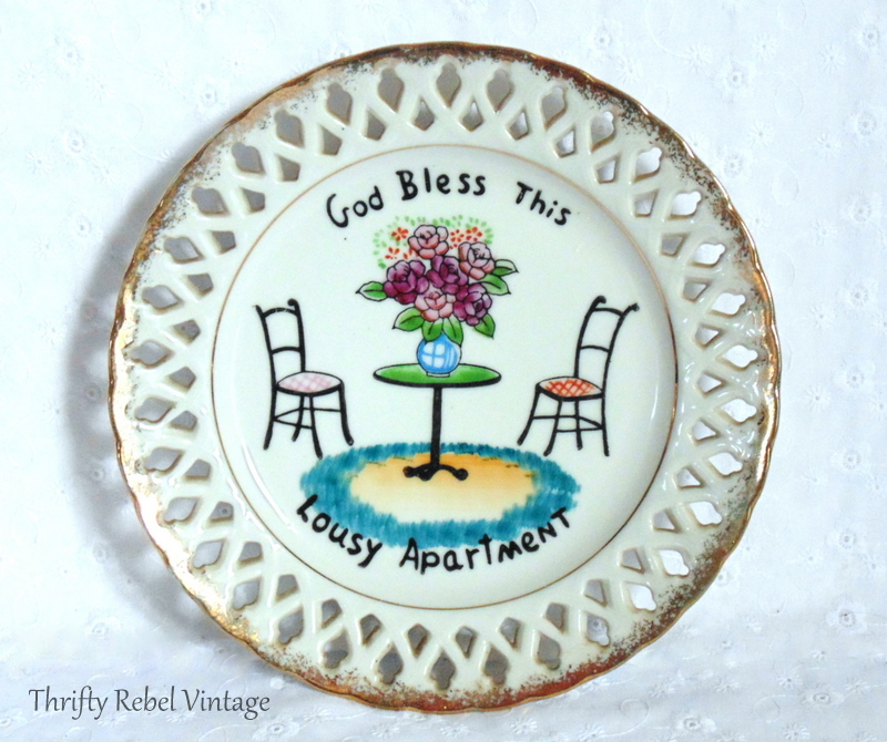 God bless this lousy apartment decorative plate