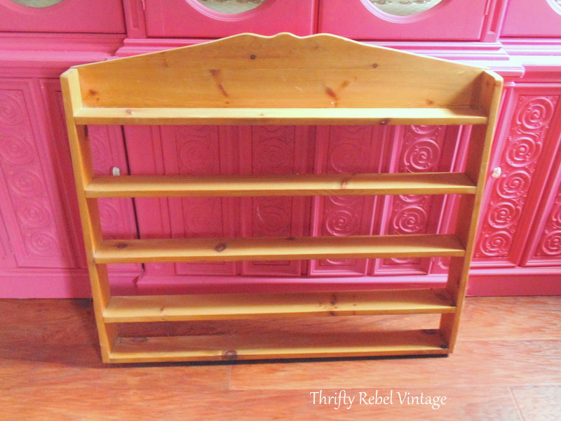 pine shelf makeover